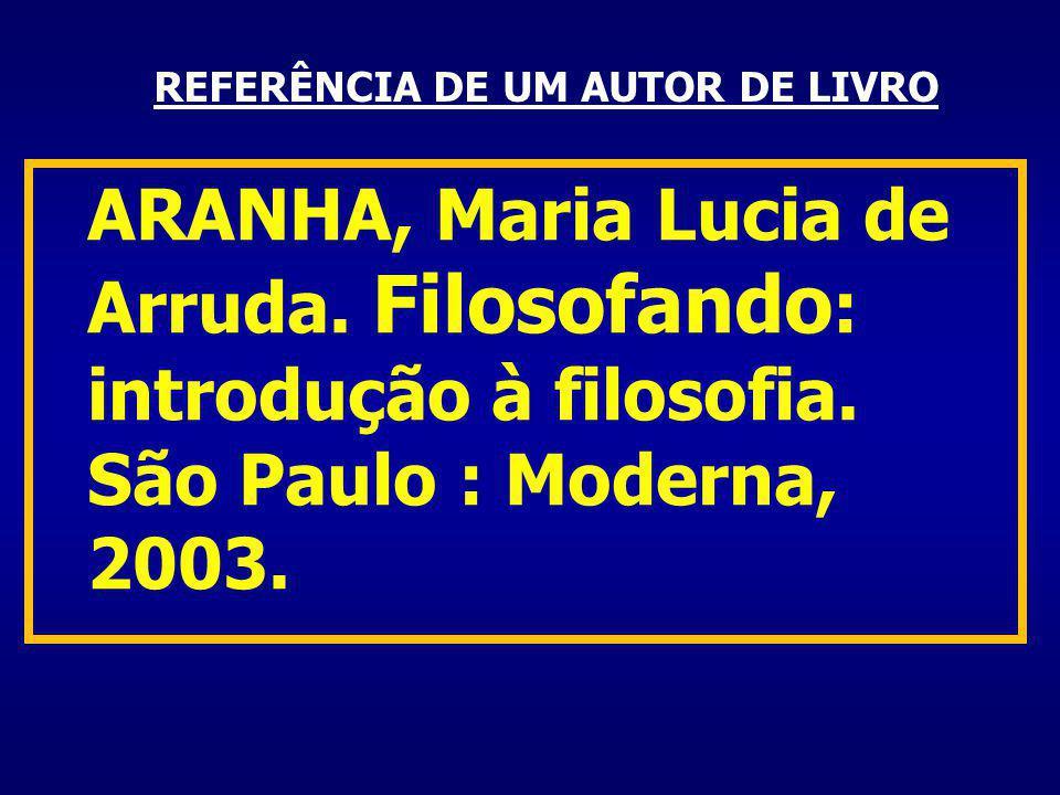 REFERÊNCIA DE UM AUTOR DE LIVRO