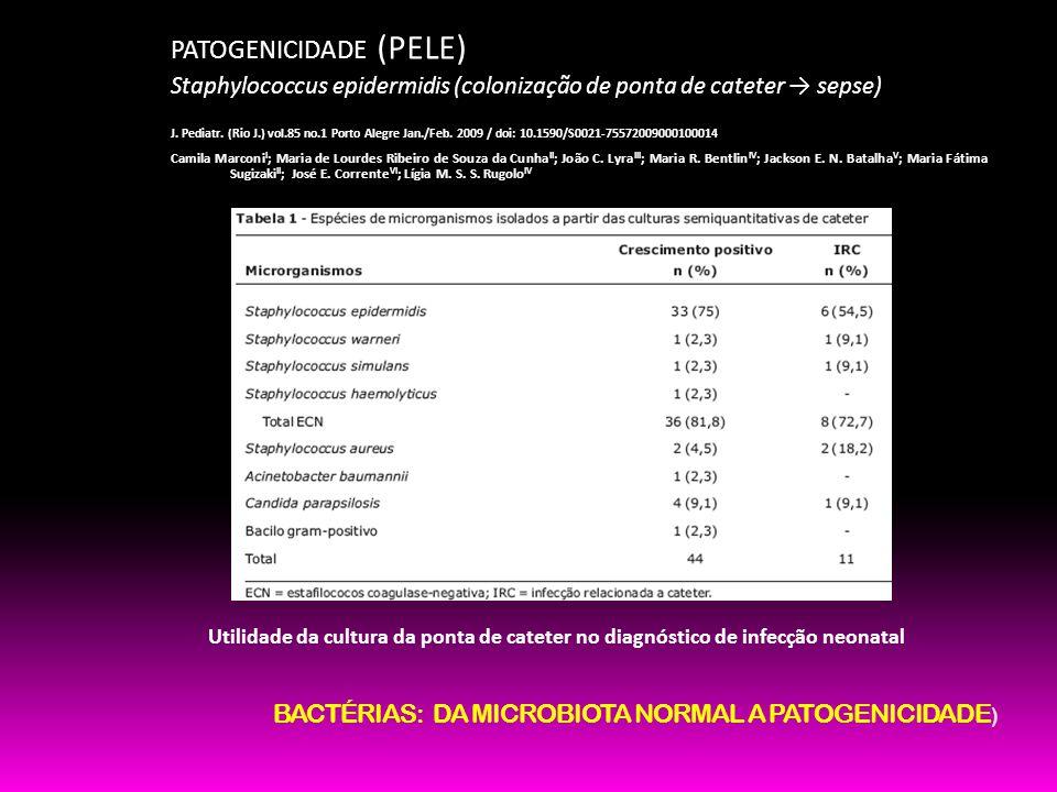 BACTÉRIAS: DA MICROBIOTA NORMAL A PATOGENICIDADE)