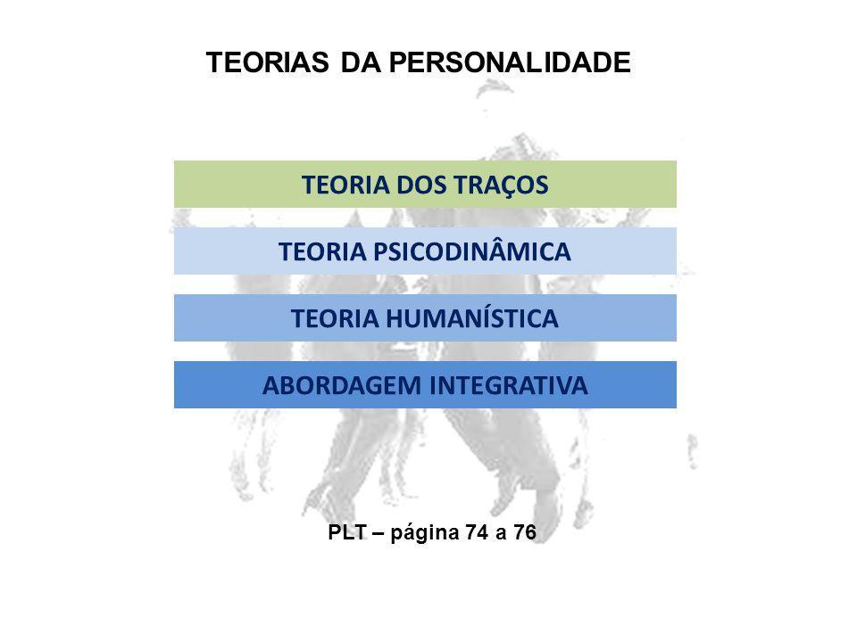 TEORIAS DA PERSONALIDADE ABORDAGEM INTEGRATIVA