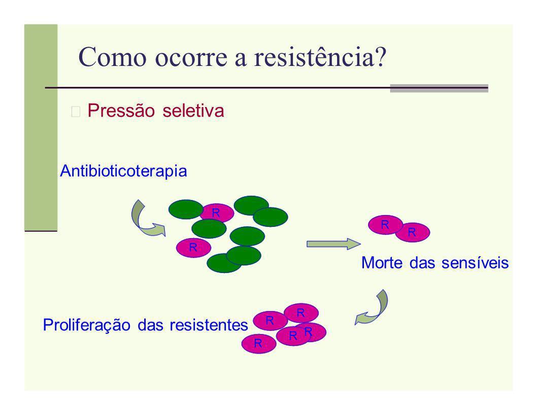 Como ocorre a resistência