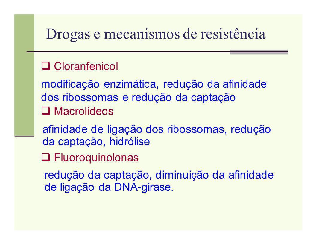 Drogas e mecanismos de resistência