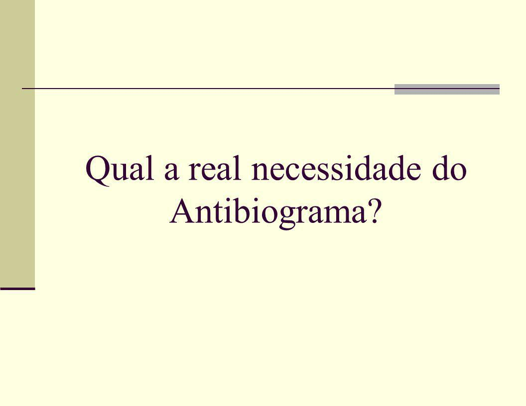 Qual a real necessidade do Antibiograma