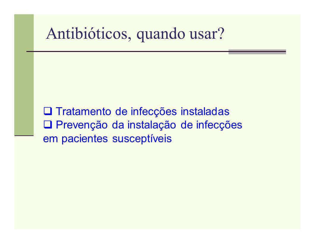 Antibióticos, quando usar