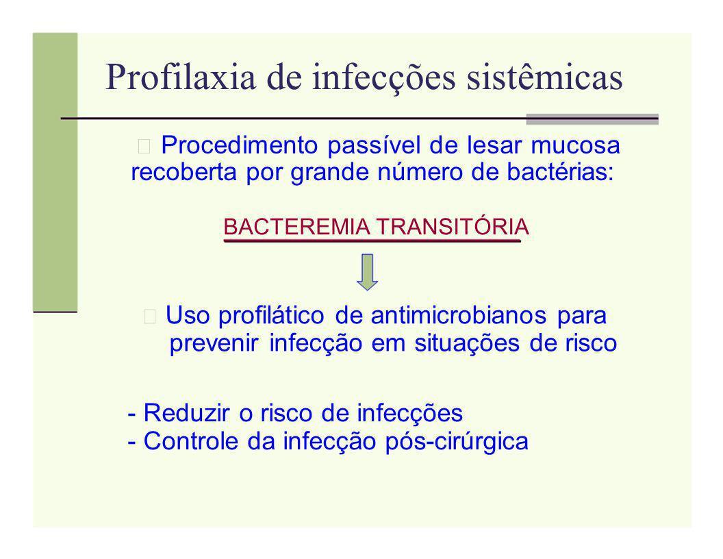 Profilaxia de infecções sistêmicas
