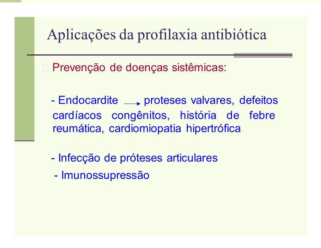 Aplicações da profilaxia antibiótica