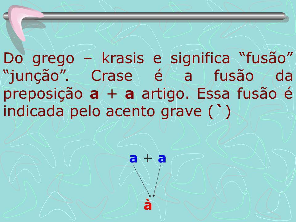 Do grego – krasis e significa fusão junção