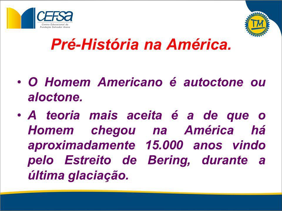 Pré-História na América.