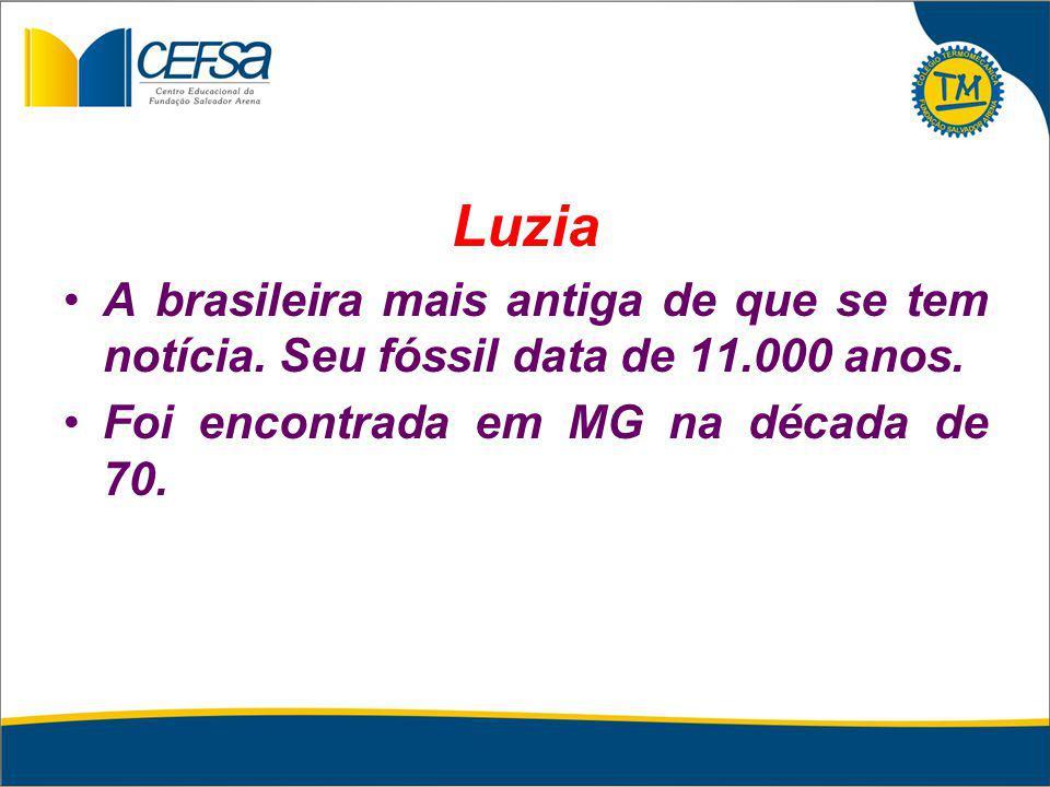 Luzia A brasileira mais antiga de que se tem notícia.