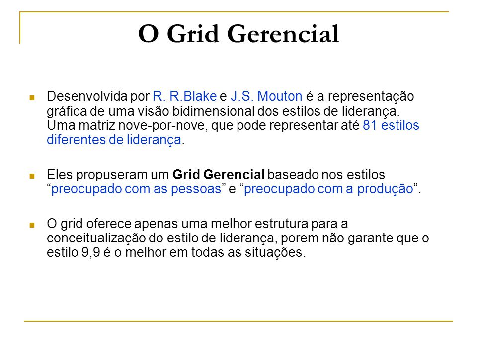 O Grid Gerencial