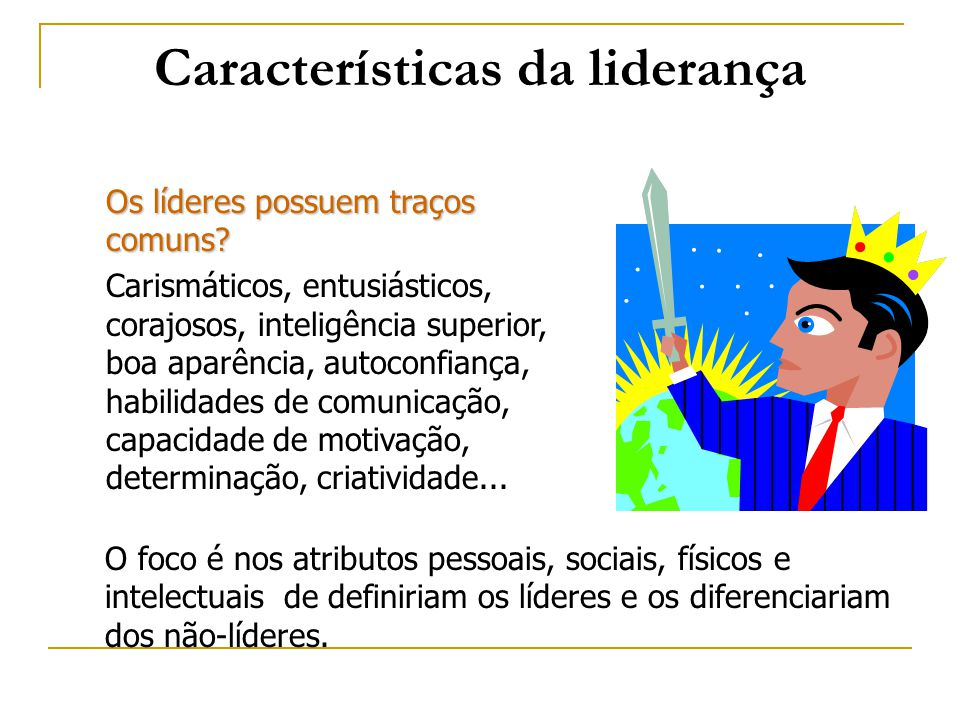 Características da liderança