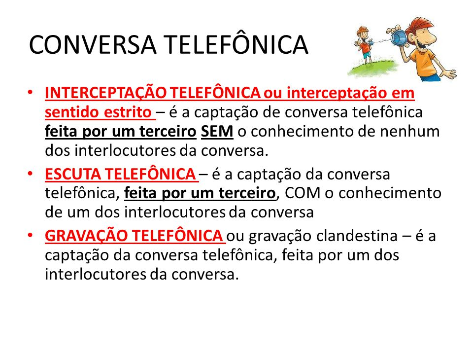 CONVERSA TELEFÔNICA