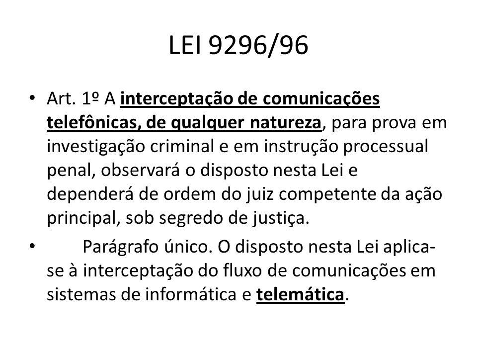 LEI 9296/96