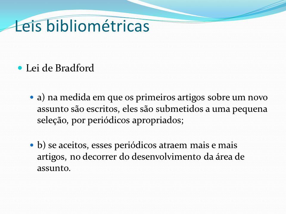 Leis bibliométricas Lei de Bradford
