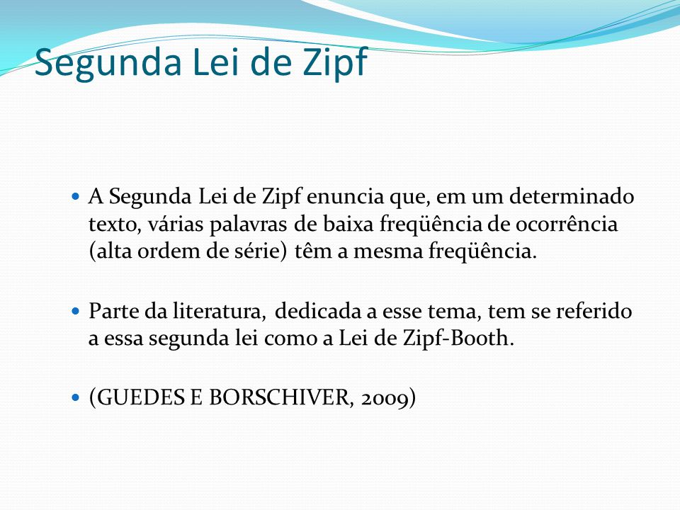 Segunda Lei de Zipf