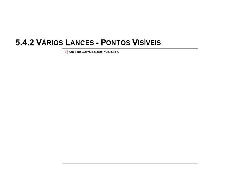 5.4.2 Vários Lances - Pontos Visíveis