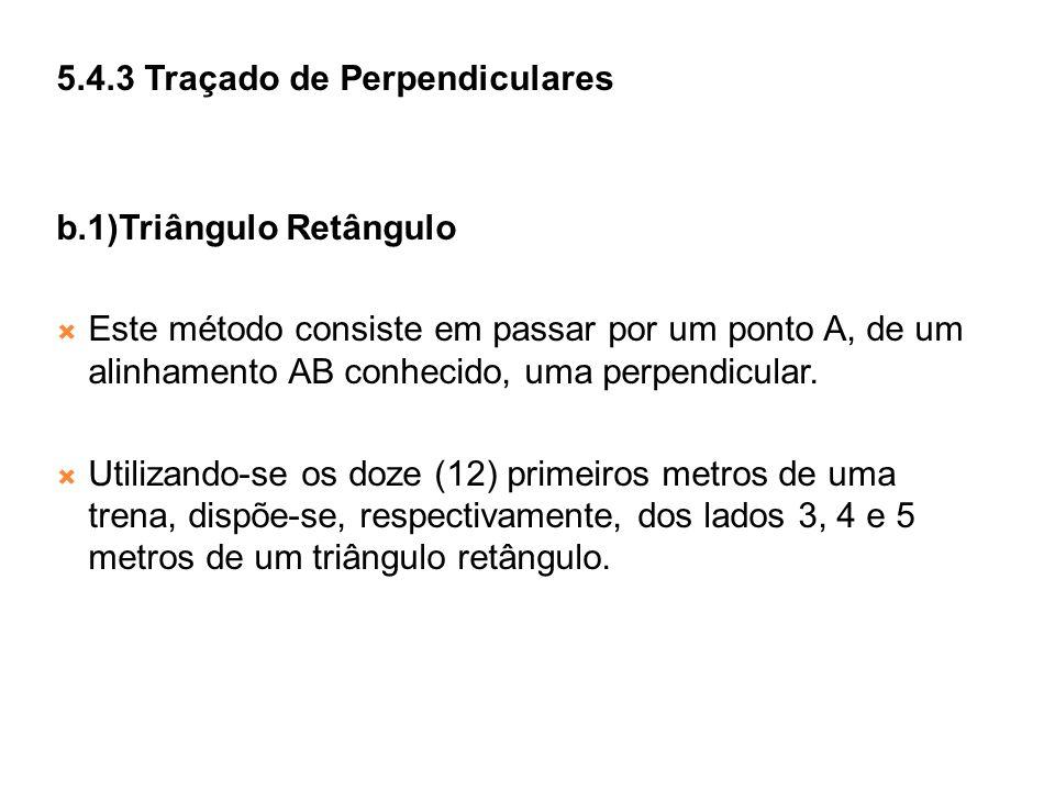 5.4.3 Traçado de Perpendiculares