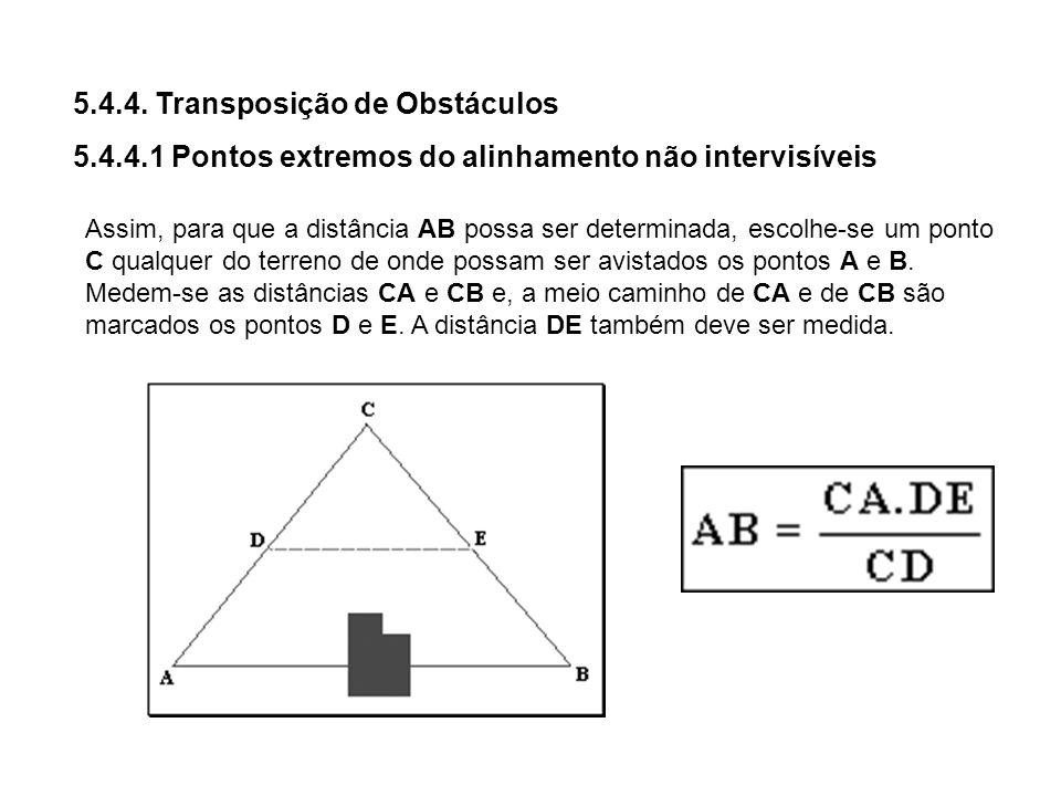 5.4.4. Transposição de Obstáculos