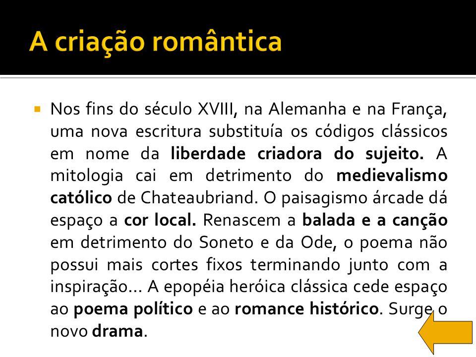 A criação romântica