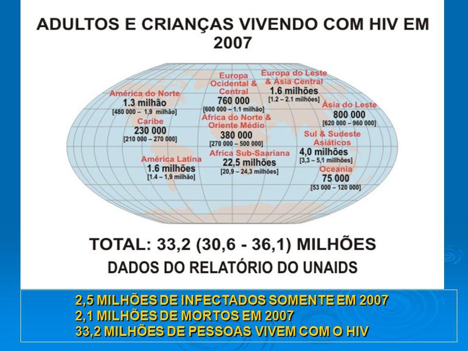 2,5 MILHÕES DE INFECTADOS SOMENTE EM 2007