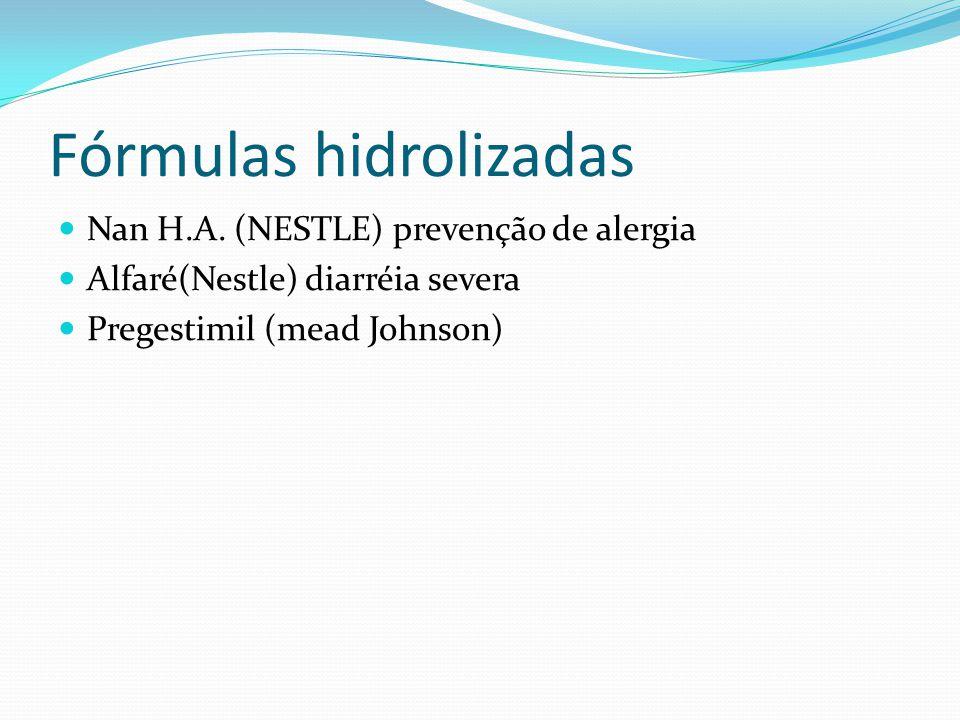 Fórmulas hidrolizadas