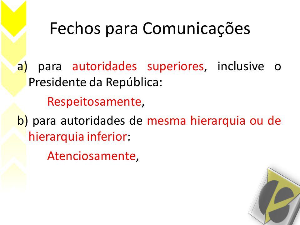 Fechos para Comunicações