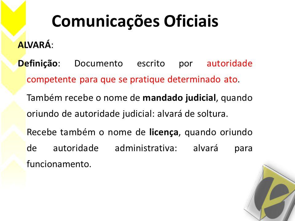 Comunicações Oficiais