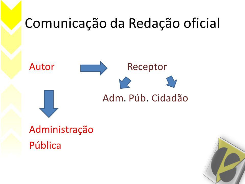 Comunicação da Redação oficial