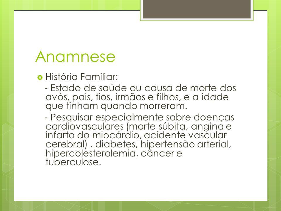 Anamnese História Familiar: