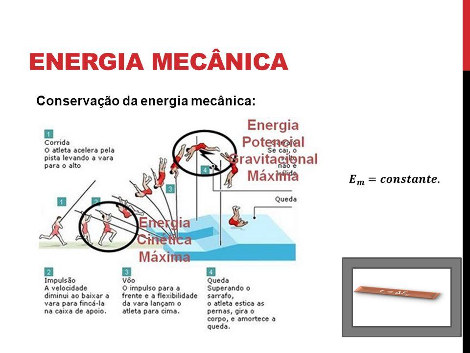 ENERGIA MECÂNICA Conservação da energia mecânica: