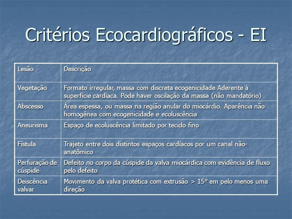 Critérios Ecocardiográficos - EI