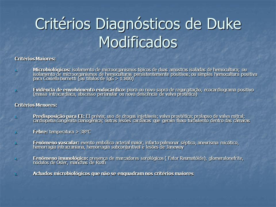 Critérios Diagnósticos de Duke Modificados