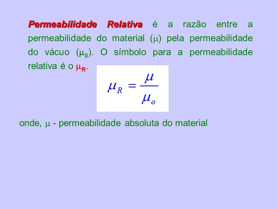 Permeabilidade Relativa é a razão entre a permeabilidade do material () pela permeabilidade do vácuo (0). O símbolo para a permeabilidade relativa é o R.