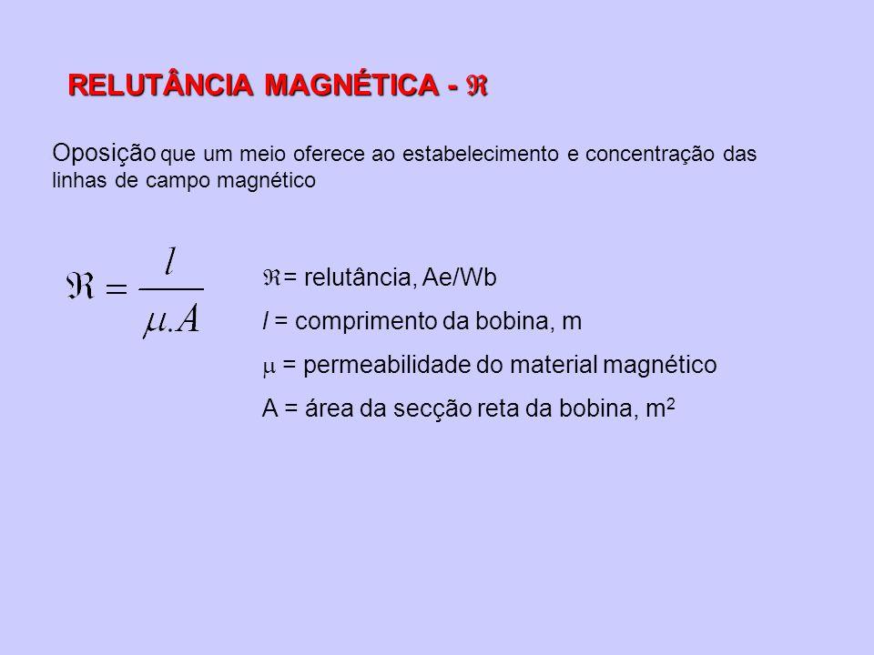 RELUTÂNCIA MAGNÉTICA - 