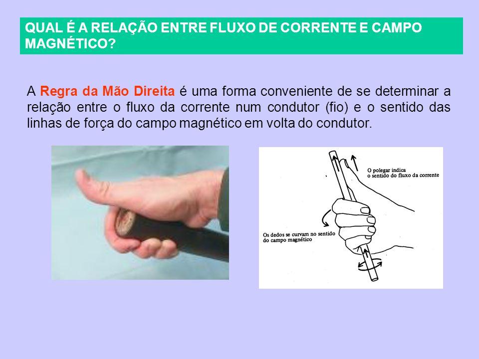 QUAL É A RELAÇÃO ENTRE FLUXO DE CORRENTE E CAMPO MAGNÉTICO