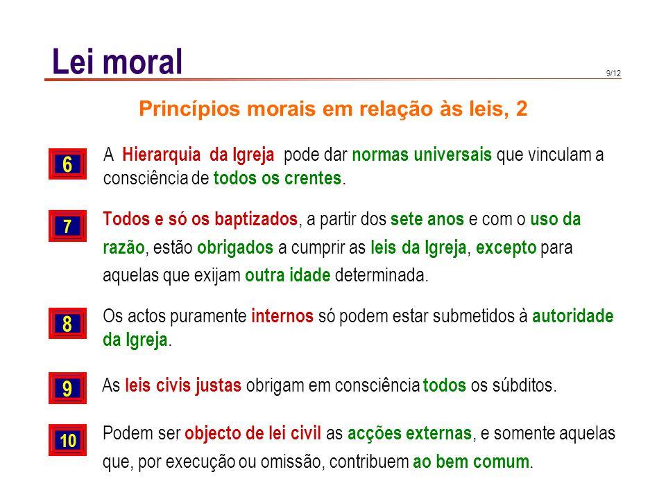 Lei moral Liberdade e lei Liberdade e lei não se opõem, mas ambas