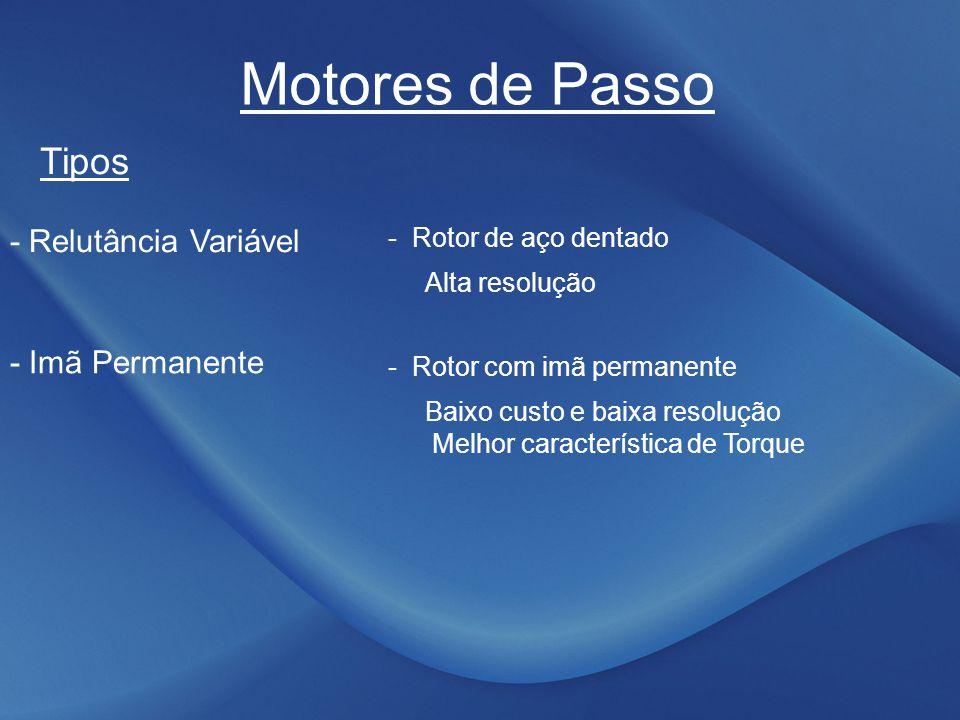 Motores de Passo Tipos - Relutância Variável - Imã Permanente