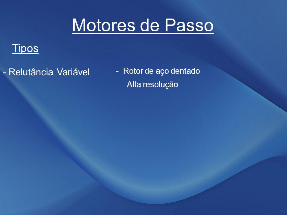 Motores de Passo Tipos - Relutância Variável - Rotor de aço dentado