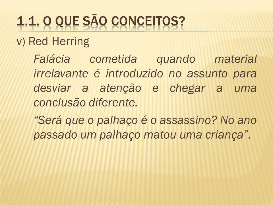 1.1. O que são conceitos v) Red Herring