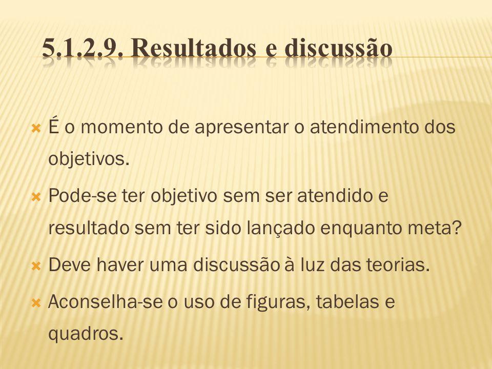 5.1.2.9. Resultados e discussão