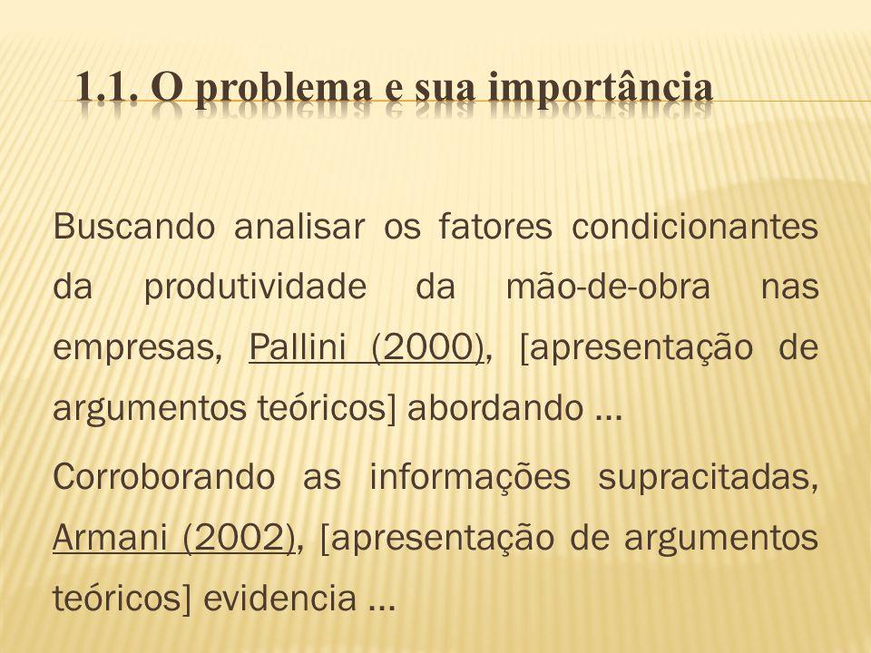 1.1. O problema e sua importância