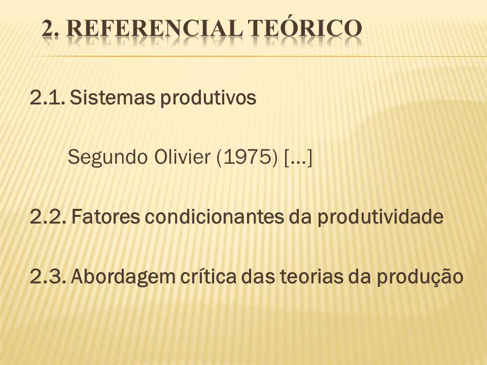 2. REFERENCIAL TEÓRICO 2.1. Sistemas produtivos