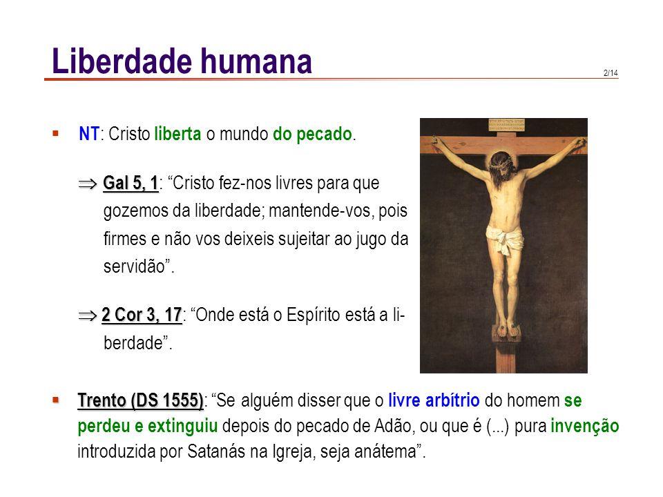 Liberdade humana Definições possíveis: 1 1 2 3