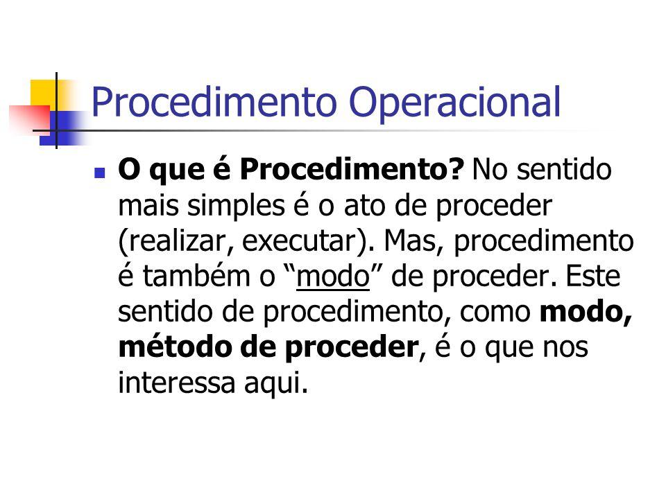 Procedimento Operacional