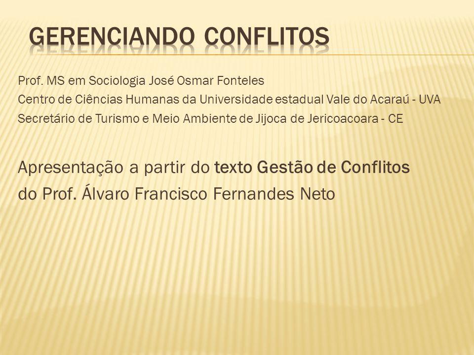 GERENCIANDO CONFLITOS