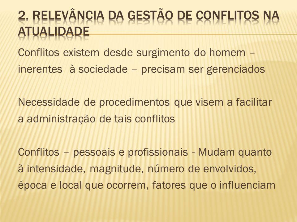2. Relevância da gestão de conflitos na atualidade