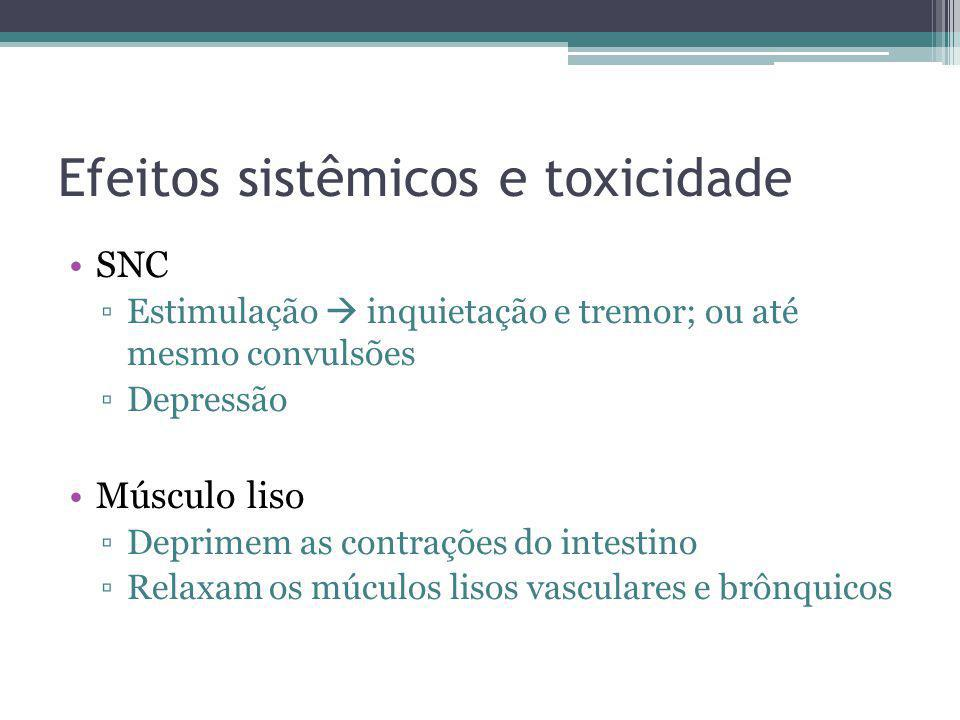 Efeitos sistêmicos e toxicidade