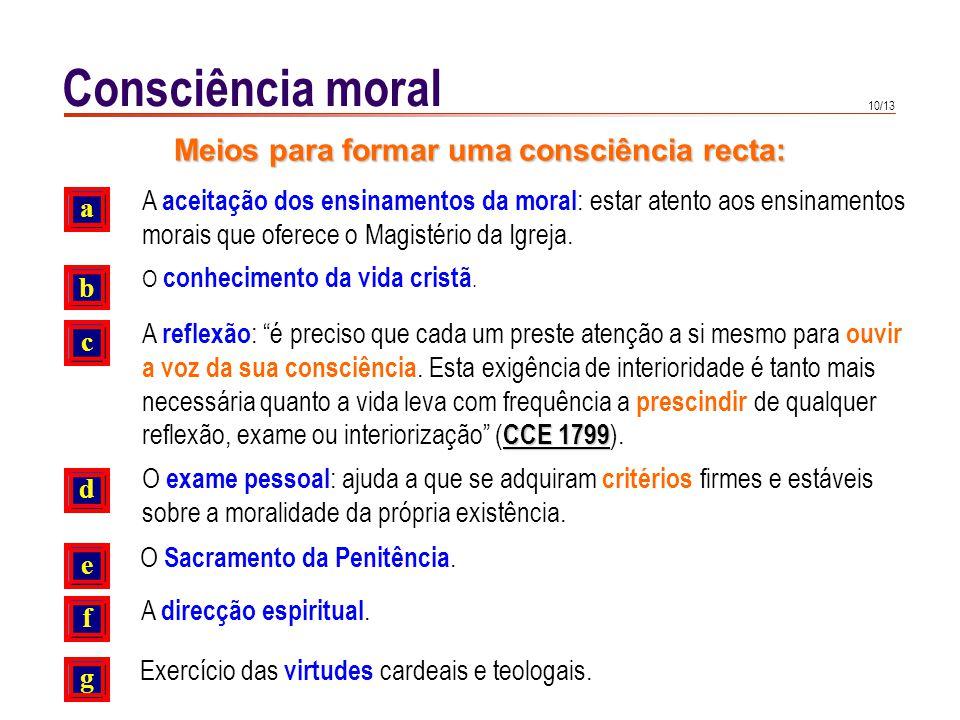 A consciência moral pode sofrer deformações