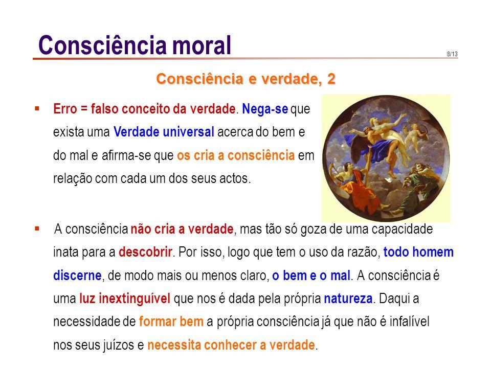 Consciência moral CCE 1783: Há que formar a consciência, e esclarecer
