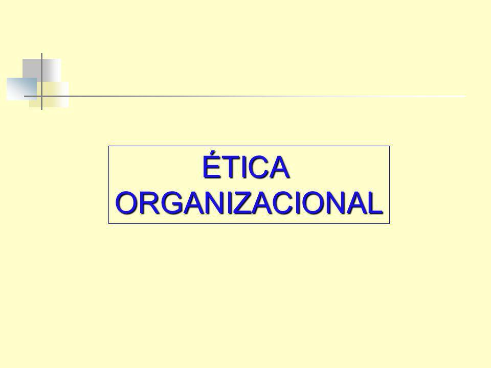 ÉTICA ORGANIZACIONAL