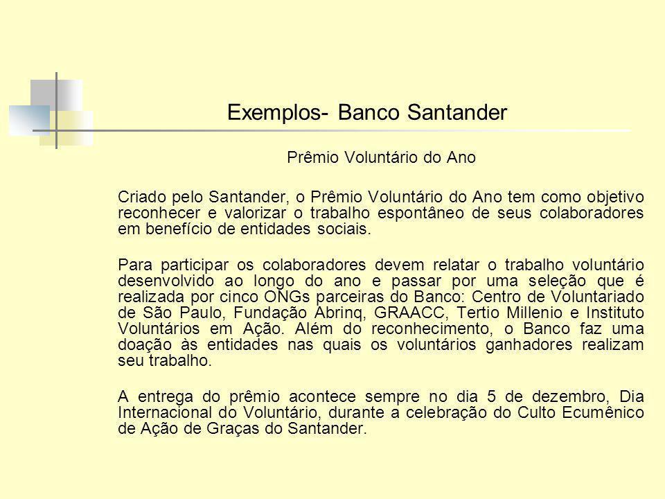 Exemplos- Banco Santander